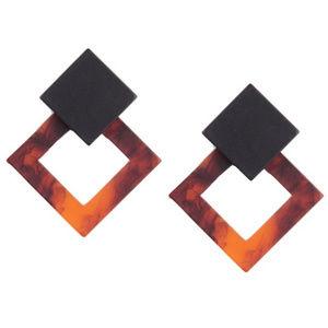 Jewelry - Double Acetic Acrylic Diamond Stud Earrings